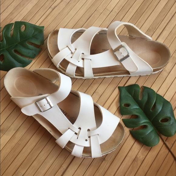 8e9a3c403ef Birkenstock Pisa White sandals Sz 42. M 5b2001bd8ad2f9b01bdfd5df